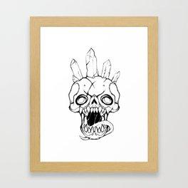 Crystal Crowned Framed Art Print