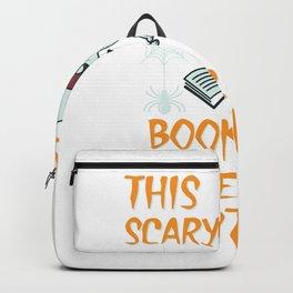 Lustiges Skelett Bücherwurm Kostüm Design für Halloween design Backpack
