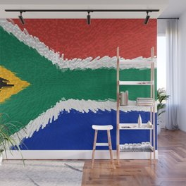 Extruded flag of South Africa Wall Mural