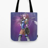 manga Tote Bags featuring Manga Unicorn by Illu-Pic-A.T.Art