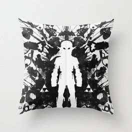 Ink Blot Link Kleptomania Geek Disorders Series Throw Pillow