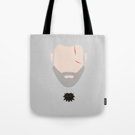 Minimalist Geralt of Rivea - The Witcher Tote Bag