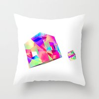 games Throw Pillows featuring GAMES by DIZYGOTIK