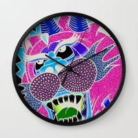 panther Wall Clocks featuring panther by Karlosh