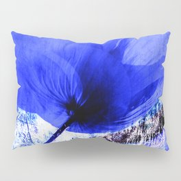 Blue Poppy vintage 222 Pillow Sham