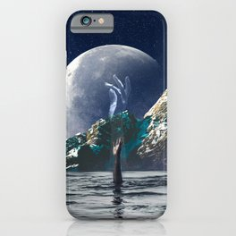 Surrealist collage - Reaching for the stars iPhone Case