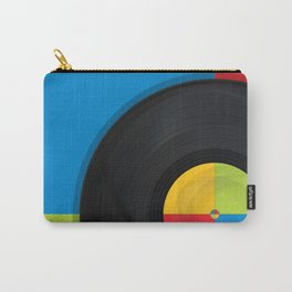 Pop Art background with vintage reccord Carry-All Pouch