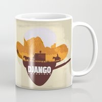 django Mugs featuring Django Unchained by TxzDesign