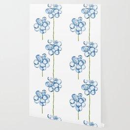 2 abstract indigo dandelions Wallpaper