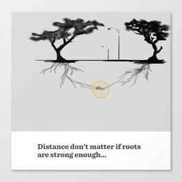 21- roots & distance Canvas Print