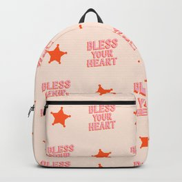 Southern Snark: Bless your heart (bright pink and orange) Backpack