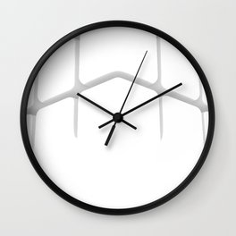 "HI Challenges: cubed up, crossed out, hashed out - ""#hilitelife"" Wall Clock"