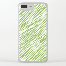 Scratch Greenery - Pantone 2017 Color of the Year Clear iPhone Case