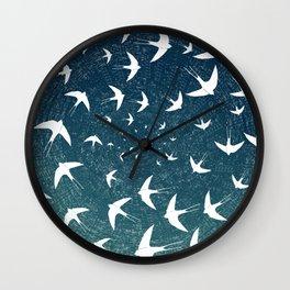 Birds Circle Wall Clock