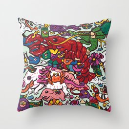 Somewhere Together Throw Pillow