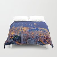 sparkles Duvet Covers featuring Monaco Sparkles by ExperienceTheFrenchRiviera