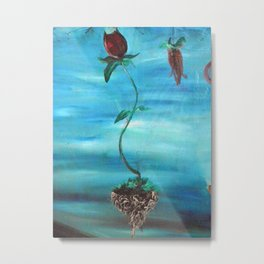 Floating Tulip Metal Print