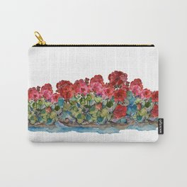 Red Geraniums painting Carry-All Pouch