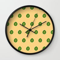 lime Wall Clocks featuring lime by D.J.D