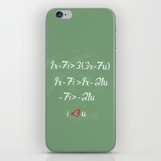 Math love iPhone Skin