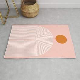 Abstraction_SUN_LINE_POP_ART_PINK_Minimalism Rug