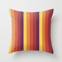 Retro Stripes Throw Pillow