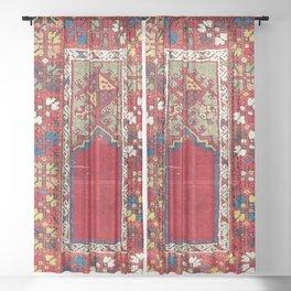Mujur Central Anatolian Niche Rug Print Sheer Curtain