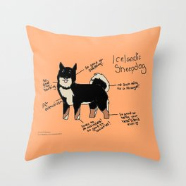 Shorthaired Icelandic Sheepdog Throw Pillow