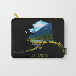 Alaska Outline - God's Country Carry-All Pouch