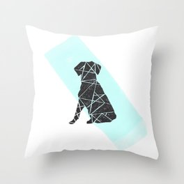 Geometic dog Throw Pillow