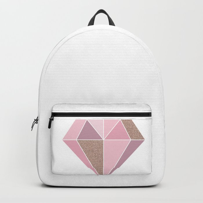 Shades of rose gold diamond Backpack