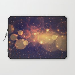 Shiny Sparkling Festive Holiday Bokeh Decorative Laptop Sleeve