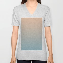 HALF MOON - Minimal Plain Soft Mood Color Blend Prints Unisex V-Neck
