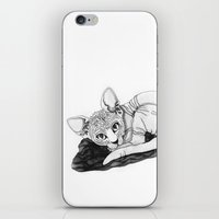 sphynx iPhone & iPod Skins featuring sphynx by Sara Kallioinen Lundgren