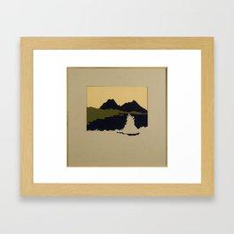 Lonely Campfire Framed Art Print