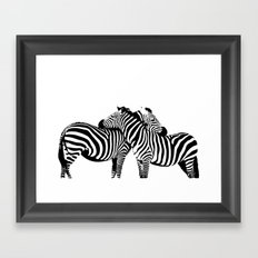Two Color Love Framed Art Print