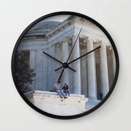 Monumental Lunch Date Wall Clock