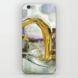 Blue whale on Second Beach, dissection with back-hoe, No. 4 - Middletown iPhone Skin