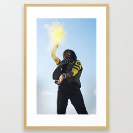 Killjoys- Yellow Framed Art Print
