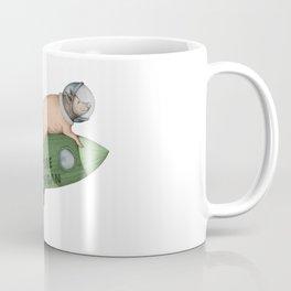 spacepig green Coffee Mug