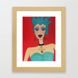 Diamond Lil (aka Billie Pet Clarke) Framed Art Print
