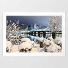 PDX Winter Art Print