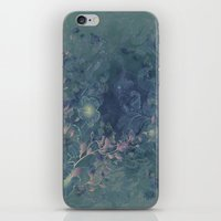 vintage floral iPhone & iPod Skins featuring Vintage floral by nicky2342
