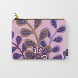 Plum Foliage Carry-All Pouch