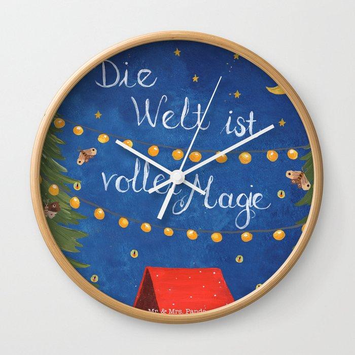 Die Welt Ist Voller Magie Wall Clock