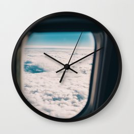 Outside the Airplane's Window (Color) Wall Clock