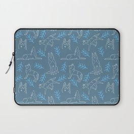 Siberian Husky Pattern (Blue-Gray) Laptop Sleeve