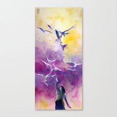La donna dei gabbiani Canvas Print