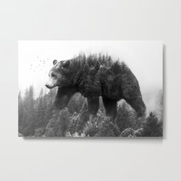 Walking trough the forest Metal Print