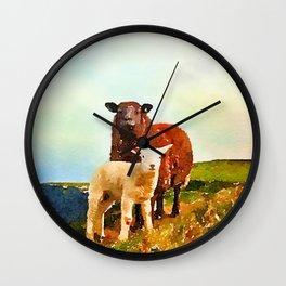 Hillside Sheep Wall Clock
